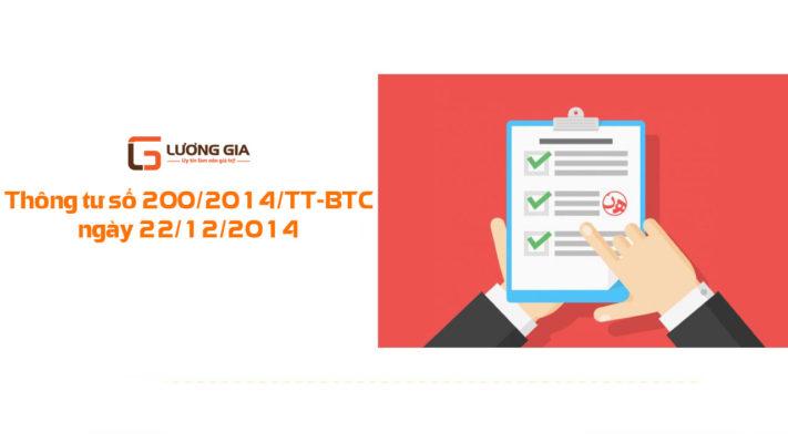 Thông tư số 200/2014 Kế toán Lương Gia
